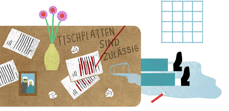 Tischplatten sind zulässig – Mandantenzeitschrift tatort:steuern