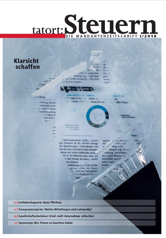 Cover Mandantenzeitschrift Ausgabe I 2018