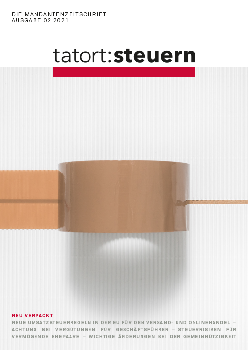 Cover Mandantenzeitschrift Ausgabe 02 2021