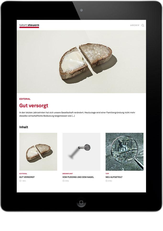 Digitale Ausgab der Mandantenzeitschrift